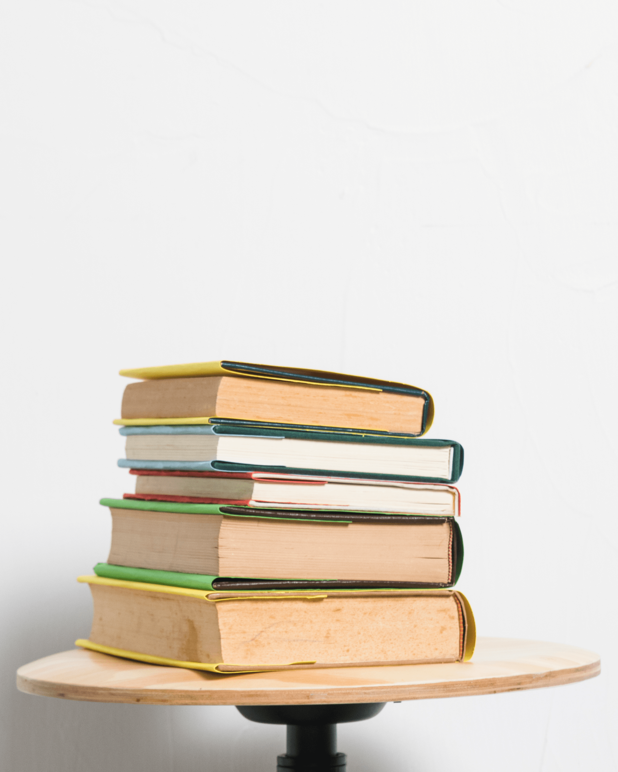 Pile of hardback book